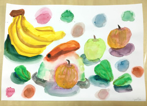 野菜、果物、ボール(小学4年生)
